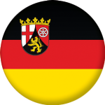 Rhineland-Palatinate State Flag 25mm Pin Button Badge